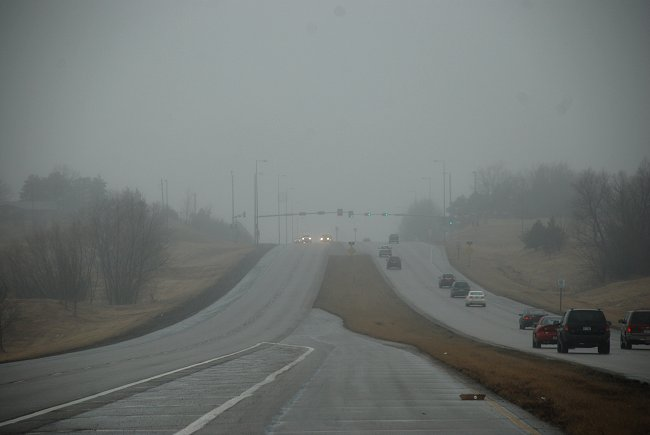 a foggy day in Lincoln